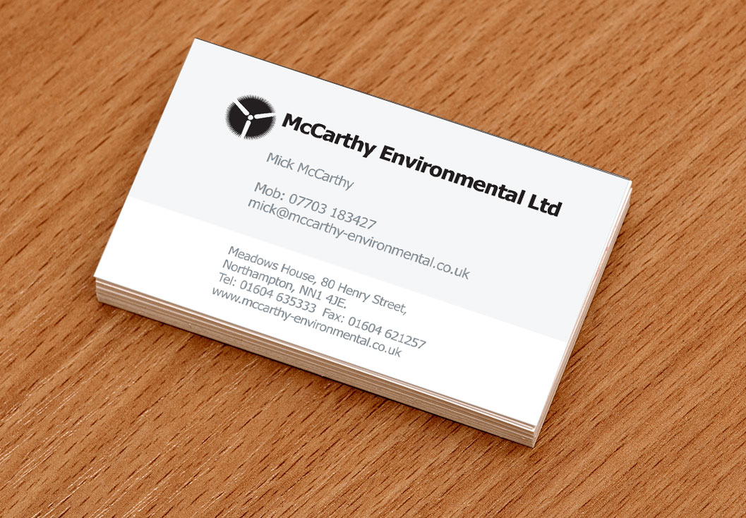 Media identity advanced creative solutions mccarthy business card design and production by media identity northampton reheart Gallery
